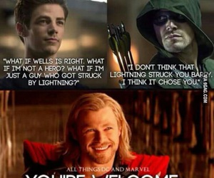 thor, arrow, and flash image