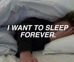 sleep, forever, and grunge image