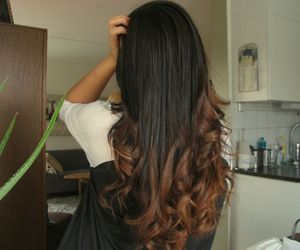 hair, brunette, and ombre image