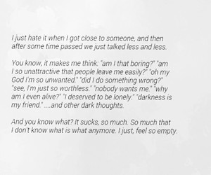 depressed, empty, and quotes image