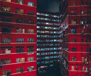 red, night, and black image