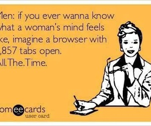 funny, women, and mind image