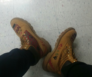 art, timberland, and boots image