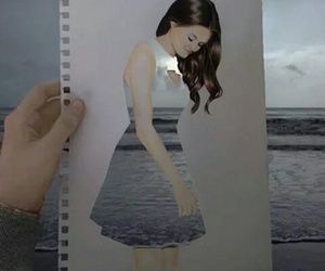 art, sea, and dress image