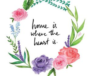 flowers, heart, and home image