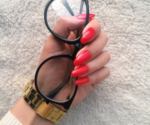 dope, red, and red nails image