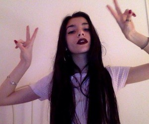 aesthetic, black hair, and grunge image