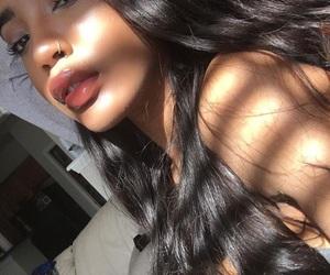beautiful, eyebrows, and long hair image