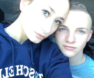 blue eyes, girlfriend, and boyfriend image