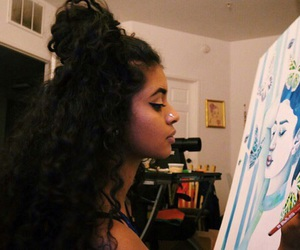 art, curly hair, and hair image