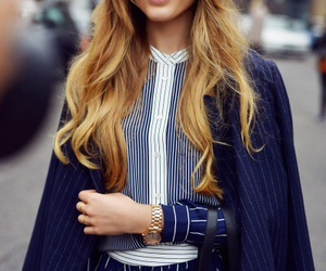 hair, kristina bazan, and fashion image