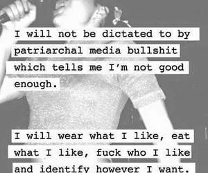 feminism, grunge, and quotes image
