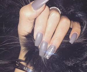 nails, girl, and grey image