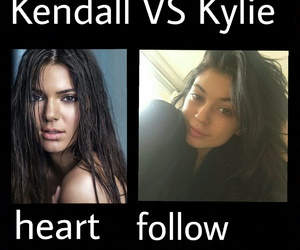follow, heart, and kendall jenner image