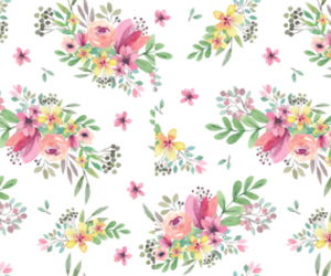 bouquet, flower pattern, and flowers image