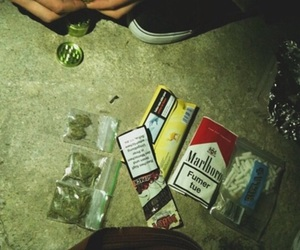 smoke, drugs, and grunge image