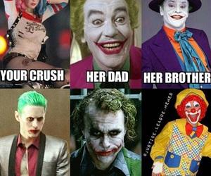 funny, harley quinn, and joker image