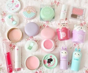 kawaii, makeup, and pink image