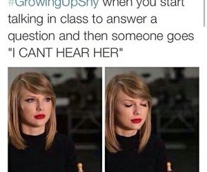 funny, Taylor Swift, and shy image