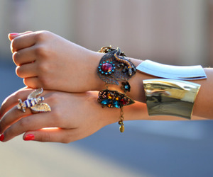 accesories, girl, and hands image