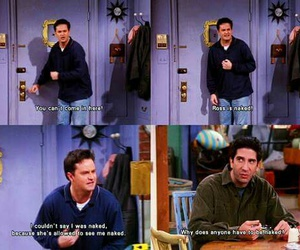 chandler, funny, and friends image
