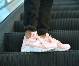 pink, nike, and style image