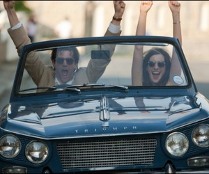 one day, car, and Anne Hathaway image