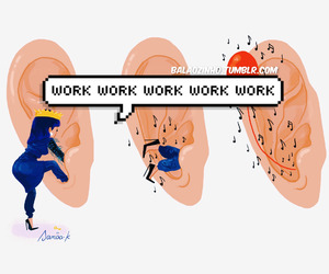 work, Drake, and rihanna image