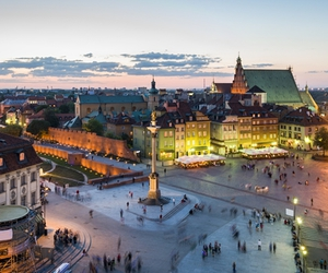 warsaw, city, and old town image