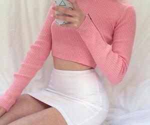 girl, pink, and fashion image