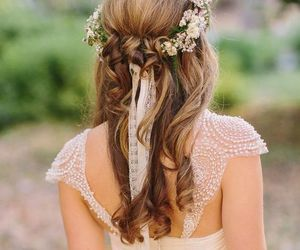 beautiful, dress, and hair image