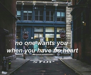 No Heart, wallpaper, and quote image