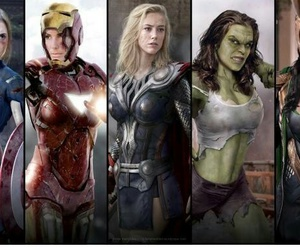thor, captain america, and Avengers image