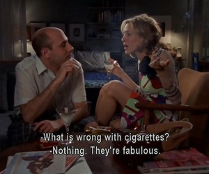 Carrie Bradshaw, sex and the city, and cigarette image