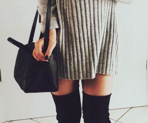 bag, boots, and chanel image