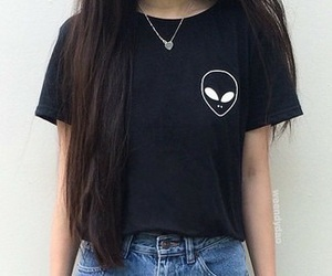 alien, black, and tumblr image