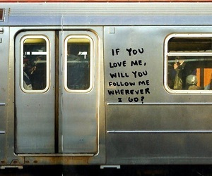 love, quotes, and train image