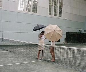 umbrella, tennis, and theme image
