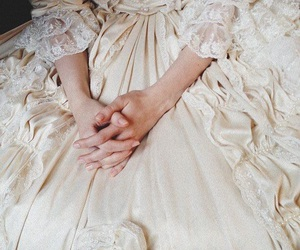 dress, victorian, and white image