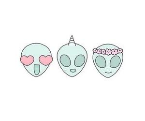 alien, tumblr, and emoji image
