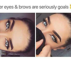 goals, eyes, and eyebrows image