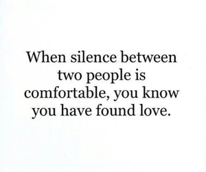 love, quotes, and silence image