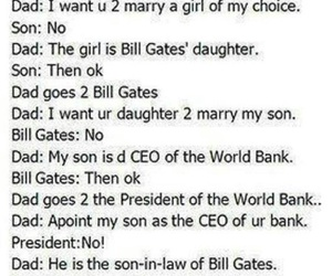funny, business, and bill gates image
