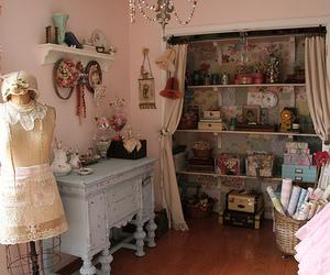 room, vintage, and pink image