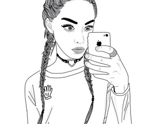 outline, drawing, and grunge image