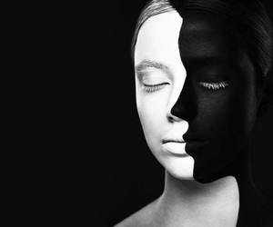 black and white and art image