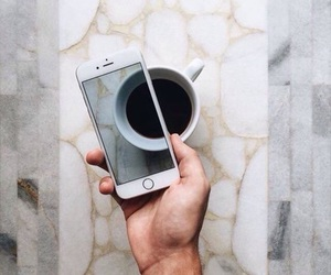 coffee and iphone image