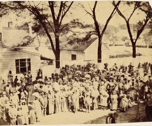 1800s, plantation, and slaves image
