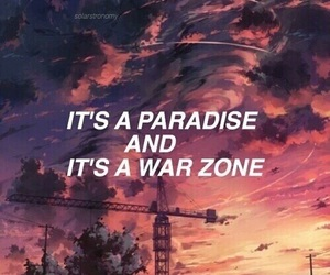 quote, paradise, and zayn image