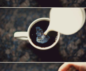 coffee, milk, and coffe image
